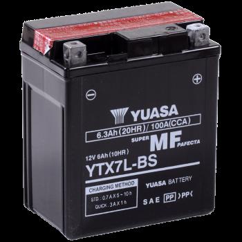 Baterie moto Yuasa AGM 12V 6Ah (YTX7L-BS)