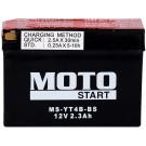 Baterie moto Moto Start 12V 2.3Ah (YT4B-BS)