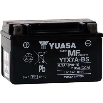 Baterie moto Yuasa AGM 12V 6Ah (YTX7A-BS)